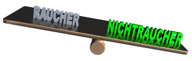 3D Waage2 - RAUCHER - NICHTRAUCHER