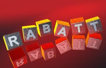 3D Fallende Wuerfel - RABATT III