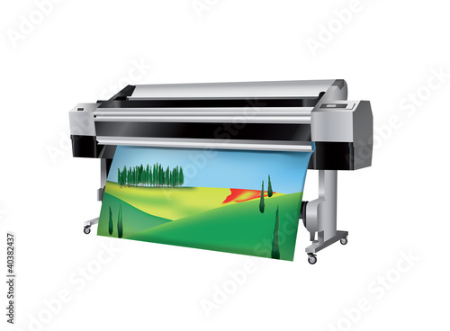Plotter with Tuscan Landscape