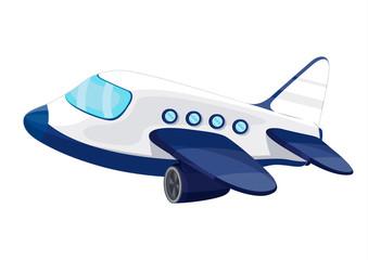Illustration of private jet plane