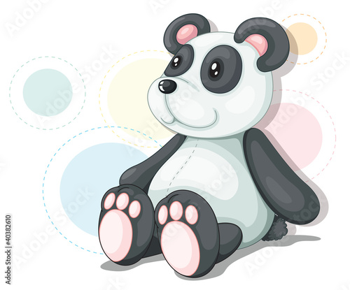 Panda teddy illustration