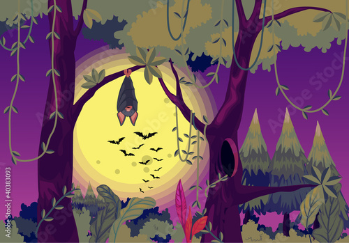 Fotobehang Bosdieren Spooky bats