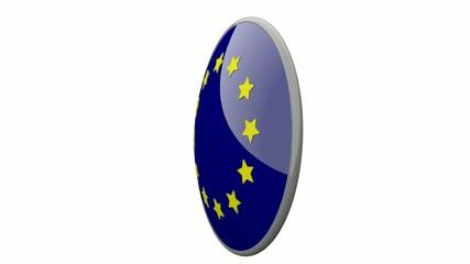 Sich drehende Scheibe mit den Flaggen der EU und Bulgarien