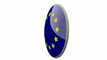 Sich drehende Scheibe mit den Flaggen der EU und Litauen