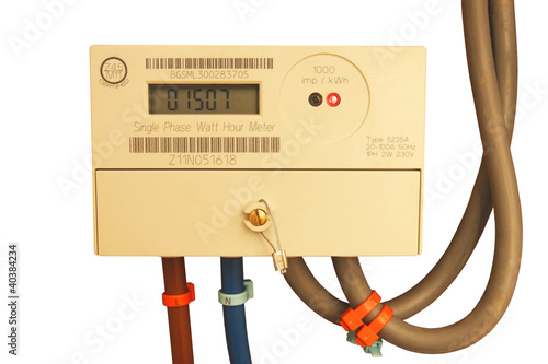 Electric meter isolated