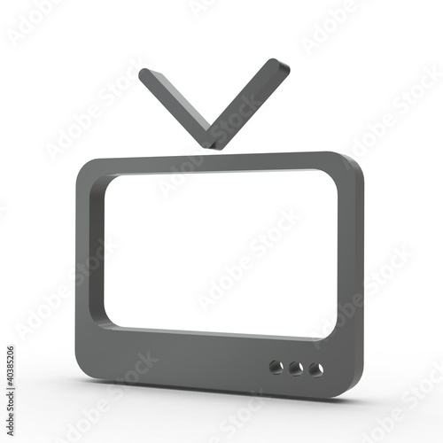 3d icon fernseher schwarz by virtua73 royalty free stock photos 40385206 on. Black Bedroom Furniture Sets. Home Design Ideas