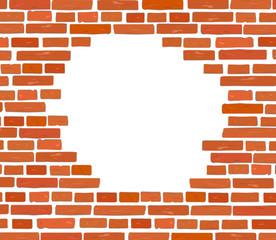 Mauer Stein mit Loch