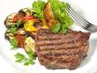 Steak - Gemüse gegrillt