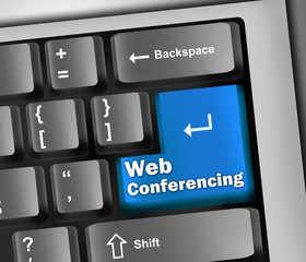 "Keyboard Illustration ""Web Conferencing"""