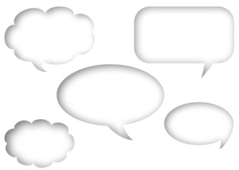 speech bubbles (embedded to blank page)