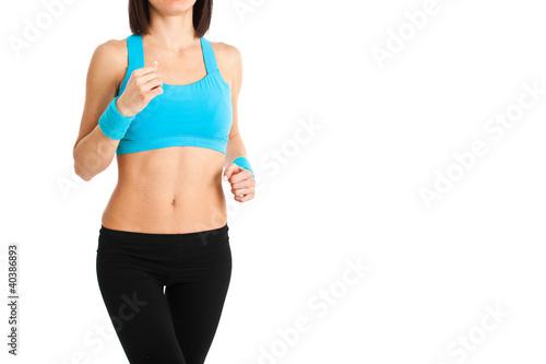 Fitness woman closeup