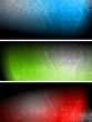 Technical vector banners