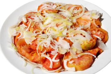 Tomates y cebollas