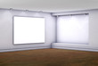 3d empty niche with lightbox for exhibit in the gallery