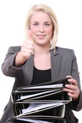 motivierte bürokauffrau