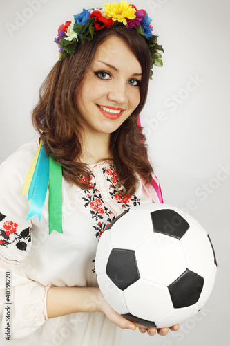 Ukrainian woman in a wreath