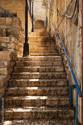 Stone Staircase In Zefat - 40392296
