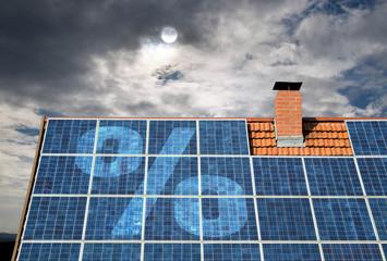 Weniger Prozente für Solarförderung