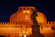 Rome, Saint Angelo castle at night