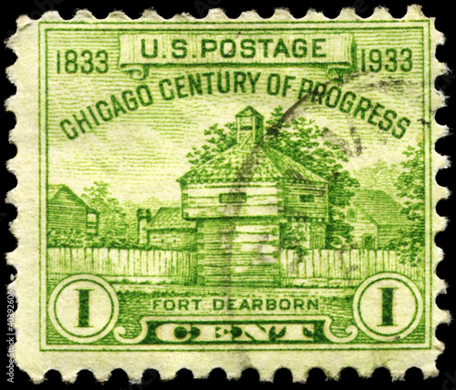 USA - CIRCA 1933 Fort Dearborn