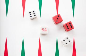Tablero del Backgammon y dados