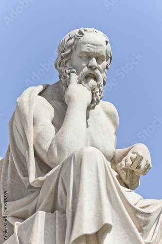 The ancient Greek philosopher Socrates
