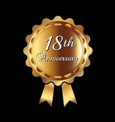 18th anniversary medal