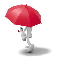 雨の散歩_後ろ姿