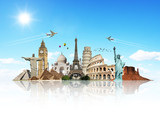 Fototapety Travel the world monuments concept 7