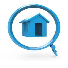 Projet immobilier, une maison dans une bulle 3d