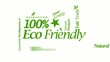 100% eco environmentally friendly nature green tag cloud video