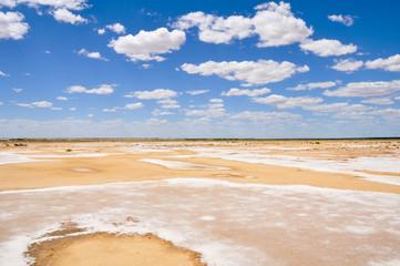 Salt desert near lake Eyre South, Australia