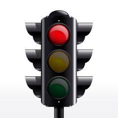 traffic light red vector