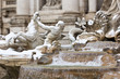 Leinwanddruck Bild - Detail of Trevi Fountain in Rome.