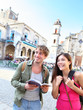 Tourists couple travel