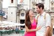 Tourists - happy couple