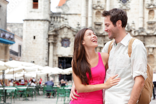 Tourists - happy couple