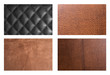 Set of leathers texture