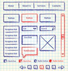 Sketch style website design kit