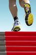 Athlete running stairs