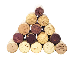 pyramid of wine corks