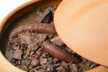 Feijoada - Brazilian black bean, sausage, pork and beef stew