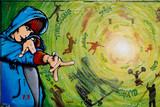Fototapete Malen - Grunge - Graffiti