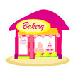 Illustration Of  Bakery Shop
