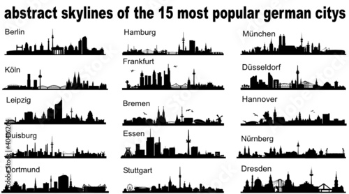 Popular German Skylines Vector