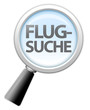 "Lupe ""Flugsuche"""