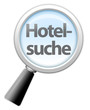 "Lupe ""Hotelsuche"""