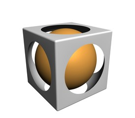 3d cubical design element