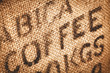 Hessian coffee background