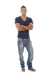 Young man in jeans and tshirt
